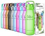 HoneyHolly Bottiglia d'Acqua Sportiva - 1000ml/1 litro & 1500ml/ 1.5 l, Non tossico, Senza bpa tritan plastica Borraccia Acqua per Sport, Palestra, Yoga, Scuola, Ciclismo, con Un Solo clic Aperto