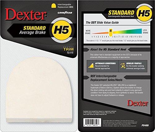 Dexter H5 Standard Gummiabsatz, Bowling-Zubehör, Schwarz