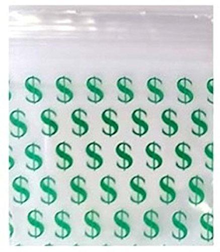 200–2,5x 2,5cm Dollar Zeichen klein Kunststoff Ziploc Baggies
