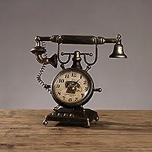 El hierro retro del estilo americano hace el teléfono viejo que modela la decoración 28 * 13 * 24cm del escritorio del escritorio de la tabla , bronze