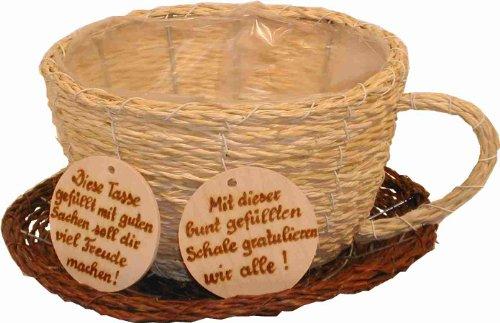 Leben mit Holz Plantes Tasse avec Inscription en Allemand, 25 cm