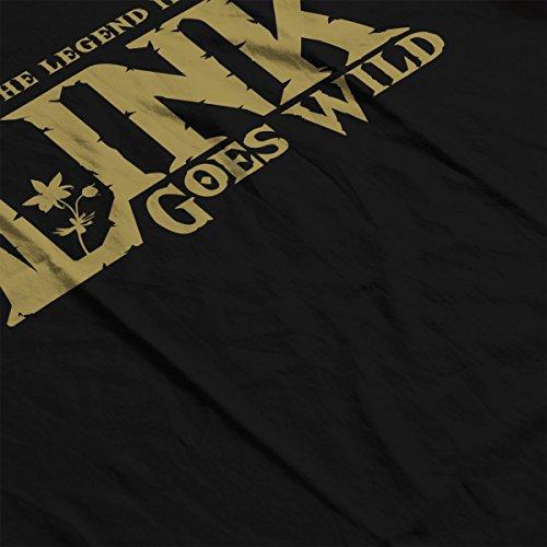 Legend of Zelda Breath Link Goes Wild Women's Hooded Sweatshirt Black