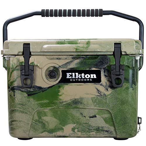 Elkton Outdoors Eistruhe Robuster, isolierter Kühler für gewerbliche Zwecke 20 Quart Camouflage -