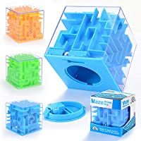 Money Maze Puzzle Box for Kids and Adults - Unique Way to Give Gifts for People You Love - Fun and Inexpensive Game Challenge for Children Birthday Christmas Gag Gifts (Blue)