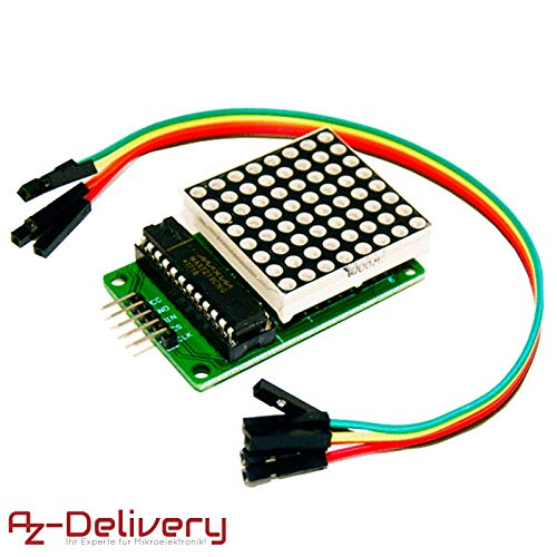 AZDelivery MAX7219 8x8 1 Dot Matrix MCU LED Anzeigemodul für Arduino mit gratis eBook! Led-matrix-display