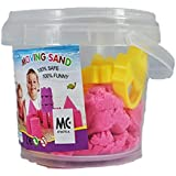 Samplus Mall Moving Sand of 1 kg Tub Play Set Beach Molds Kids Moving Dough with Tools
