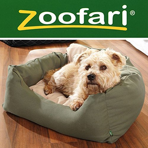 Bild: ZOOFARI Hundebett  dunkelgrün  beige