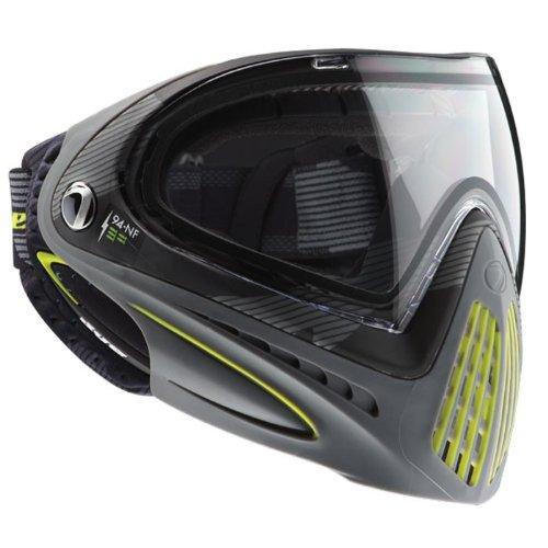 Dye Erwachsene Paintball Maske I4 Bomber Paintballmaske Grau/Gelb One Size -