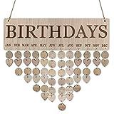 Meilleurs Cadeaux Pour Le Jour Du Souvenir !!! Jumberri Family Birthday Party Board Plaque Diy Suspendre Calendrier De Rappel D'Anniversaire En Bois (40 X 12 X 0.5Cm)