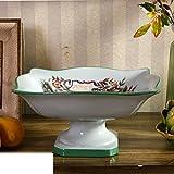 JYXJJKK Obst-Ornamente Home Wohnzimmer getrocknete Früchte Platte Mode-Snack-Platte-Weiß