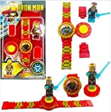#5: Ayezent Iron Man Avengers Kids Toy Watch with Rotating Iron Man Toy Fidget Spinner
