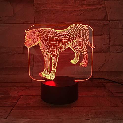 3D Illusion Lampe Transparent Acryl LED Nachtlicht Stehen Leopard Schreibtisch Lampara Farbe Veränderbar RGB Dekor Handwerk