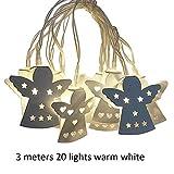 repude 1,5M / 3M Batterie LED Lichter Engel Licht Schmiedeeisen nach Hause Weihnachtsdekoration innen außerhalb Tag Garten Fee Lampe