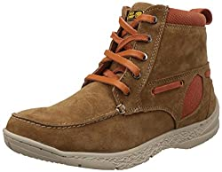 Redchief Mens Rust Leather Trekking and Hiking Footwear Shoes - 8 UK/India (42 EU) (RC3075)