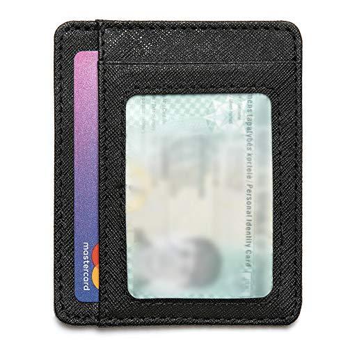92b7763721 Mercor Portafoglio Uomo Piccolo Porta Carte di Credito RFID|Porta Tessere  Sottile in Pelle PU Premium Schermato|6 Tasche Carte/Bancomat + Tasca Porta  ...