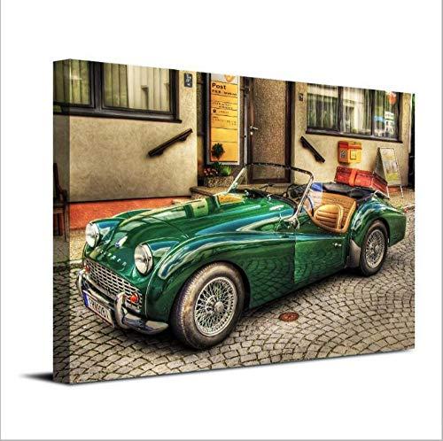 GHKNB Impresiones sobre Lienzo 1 Pieza Triumph Tr3 Coche Viejo Impresión De Estilo Antiguo Cartel Pintura Arte De La Pared Imagen Decoración del Hogar2 (60X85Cm) Sin Marco