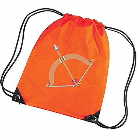 Apparel Printing Emoji Bow And Arrow Gym Bag, Tangerine