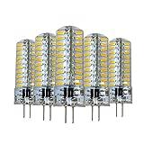 Dimmbare LED-Lampe, G4, 5 W, 80 LEDs, 4014 SMD, 400-500 lm, warmweiß, kaltweiß, Kieselgel-Lampe, AC 110 V/AC 220 V, 5 Stück Warm White-220v