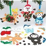 Kits Infantiles para Crear Pompones Decorativos de Navidad y Colgarlos en el Árbol Manualidades Creativas para Niños Perfectas como Decoraciones Navideñas Personalizadas (Pack de 3)