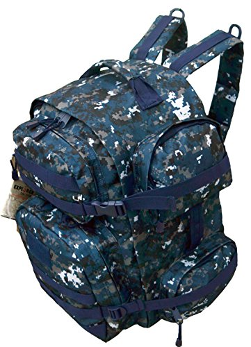 EXPLORER Tactical Backpack Military Assault Pack with Molle Attachments, Navy Digital Bright Side Bag