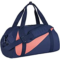 Nike Kids' Gym Club Duffel Bag, Color NAVY/NAVY/HOT PUNCH, Talla MISC