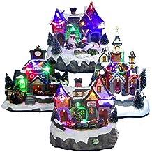 Noël Lumineux Musical Village d'hiver Festive Guirlande de décoration d'intérieur