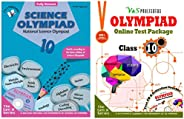 Olympiad Class 10 Online Practice Tests + Science Book For NSO (Set Of 2 Books)