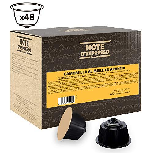 Note D'Espresso - Cápsulas de manzanilla con miel y naranja compatibles con cafeteras Dolce Gusto, 14g (caja de 48 unidades)