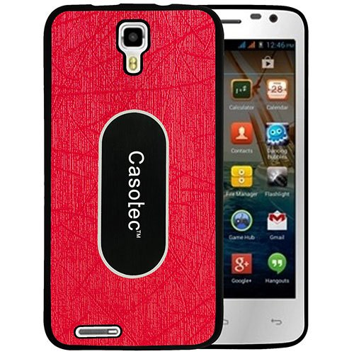 Casotec Metal Back TPU Back Case Cover for Micromax Canvas Juice A77 - Red  available at amazon for Rs.149