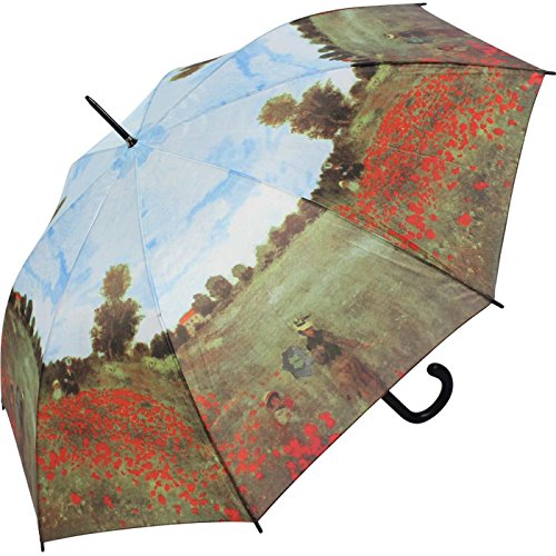 Regenschirm Motiv Claude Monet Mohnfeld bei Argenteuil Stockschirm Automatik