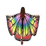 PowerBH Halloween/Fiesta Prop Suave plástico Mariposa alas–Hada Mujer Nymph Pixie Disfraz Accesorio Arcoiris