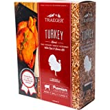 Traeger Hartholz Pellets Turkey Blend 9kg Box inkl. Rub und Orangen-Sole