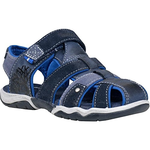 Timberland Park Hopper Fisherman Youth Navy Leather Flat Sandals Navy