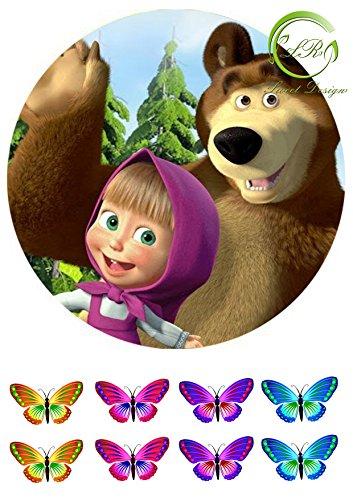 'Mascha - Маша и Медведь ' 2 Tortenaufleger,Geburtstag,Tortendeko
