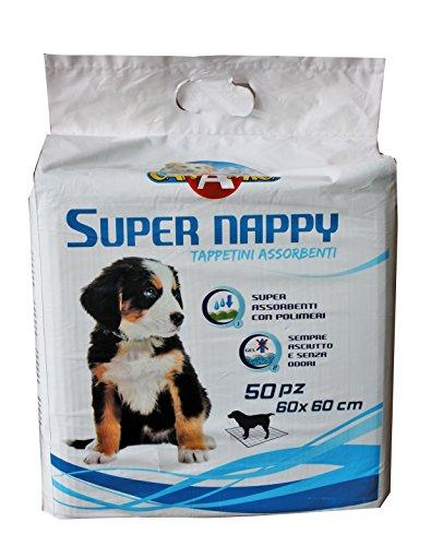 Croci Dog Assorbente Super Nappy, 60 x 60 cm, Confezione da 50