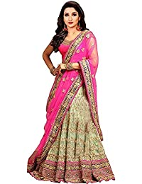 cd496b1512 Drashti villa Women s Embroidered Semi Stitched lehenga choli With Blouse  Piece (Free Size) (