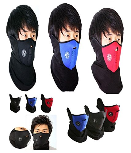 bike face mask neoprene half cover riding bike dust-wind-sun prevention (combo offer of 3 pes-red blue black) Bike Face Mask Neoprene Half Cover Riding Bike Dust-Wind-Sun Prevention (Combo offer of 3 pes-RED BLUE BLACK) 51yE DYNymL