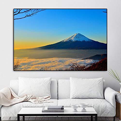 NIMCG Moderna Decorazione Cuadros Moda Vulcano Mountain Pittura e Stampe Tela Pittura Immagini murali per Soggiorno G R1 60x80CM (Senza Cornice)