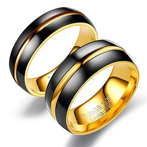 tz Schwarz Und Gold Wolfram Ring Für Männer Frauen Schmuck Schwarz Hartmetall Ring ()