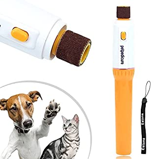 Estone Pet Dog Cat Nail Grooming Grinder Trimmer Clipper Electric Nail File Kit 12