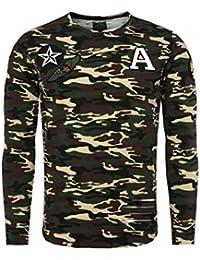 Carisma - T shirt manche longue camouflage kaki Carisma