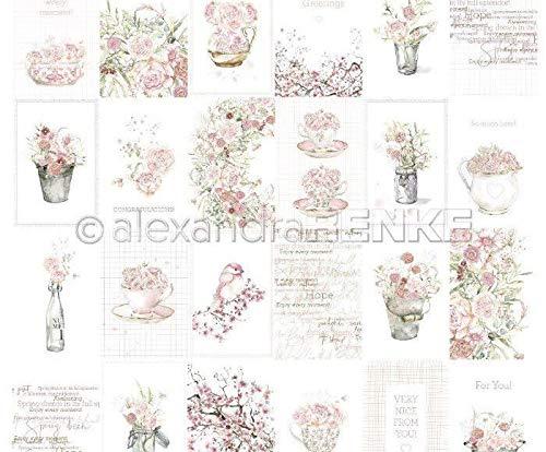 One-sided Scrapbook-Papier (1ks) - Karten-Blatt, Rose-Blumen-Arrangements, International, Renke Alexandra, 30 30 Karteikarten, Folien, Print, Scrapbo -
