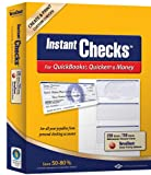 Instant Checks for QuickBooks, Quicken & Money: Form #3001 - Cartera personal (250 unidades), color azul
