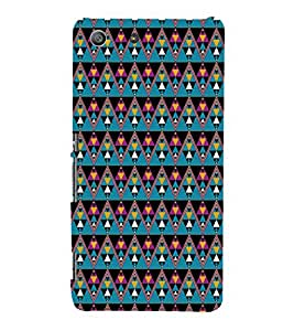 EPICCASE cris cross Mobile Back Case Cover For Sony Xperia M5 (Designer Case)