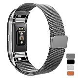 Kutop for Fitbit Charge 2 Bracelet, Milanese Acier Inoxydable Réglable Bande en Métal Sport Bracelets De Remplacement Straps Accessoires avec Magnétique Fermoir pour Fitbit Charge 2 Fitness Wristband