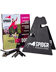 SPIDER SLACKLINES Outdoor Kit White 15m Escalada Entrenamiento Slackline
