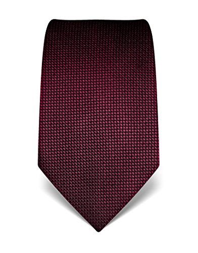 Vincenzo Boretti Herren Krawatte aus reiner Seide, gepunktet burgunder