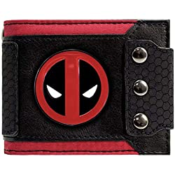 Cartera de Marvel Deadpool Insignia Triple abotonado Negro