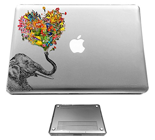 c0079 - Funky Aztec elephant Floral Trunk Design Macbook Air 11.6'' (2012-2015) Fashion Trend Hülle Schutzhülle Schutzcase Hartplastik komplett Hülle Vorder-und Rück (Hartplastik-trunks)