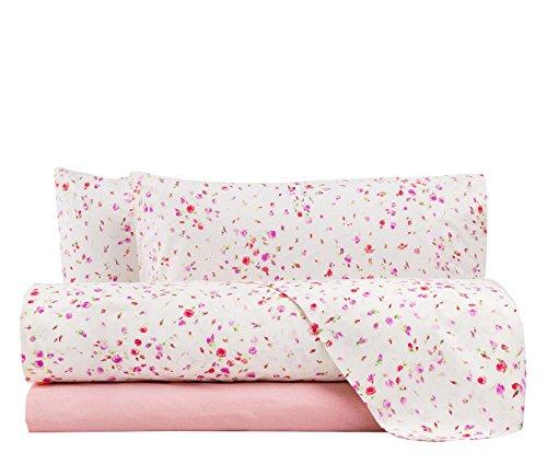 Lenzuola zucchi completo letto matrimoniale zucchi lucy offerta, rosa